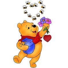 Winnie-The-Pooh Valentine Clip-Art Images