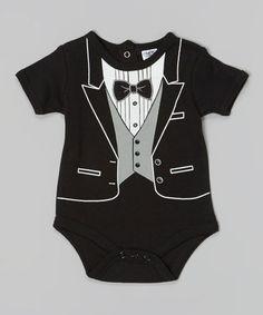Love this Black Tuxedo Bodysuit - Infant by Baby Essentials on #zulily! #zulilyfinds