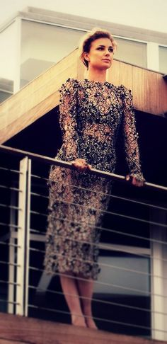 Emily VanCamp - beaded dress