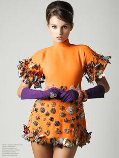 orange haute couture fashion | Ludovika Koch Fashion Editorial By Danny Cardozo and Danny Santiago