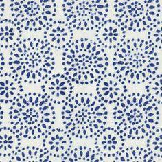 tissu indigo circles fond blanc