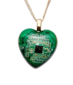 Circuit Board, Cyberpunk, Goodies, Boards, Pendant Necklace, Autumn, Jewellery, Christmas Ornaments, Heart
