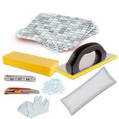 Mineral Tiles - DIY Tile Backsplash Kit 15Ft Blue Moon, $189.00 (http://www.mineraltiles.com/diy-tile-backsplash-kit-15ft-blue-moon/)