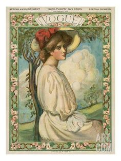 Vogue Cover - February 1906 Regular Giclee Print by Boardman Robinson at Art.com
