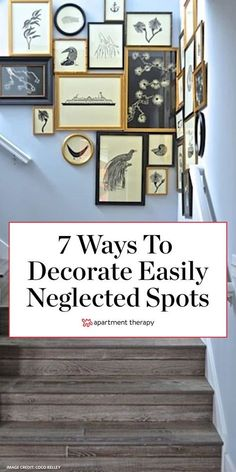 There are plenty of spots in our homes that we all know to decorate—blank walls, console tables, the area over the couch—and then there are those tiny areas that we tend to ignore. Don't miss out on these seven opportunities to sneak a little more personality into your living space. #decorideas #awkwardnooks #staircases #decorideas #wallart #homedecortips #interiordesign #goodhome Playroom Decor, Home Decor Wall Art, Diy Home Decor, Home Wall Colour, Wall Colors, Diy Dream Home, Black And Gold Bathroom, Home Decor Accessories, Inspiration Wall