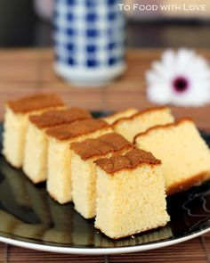 Japanese Castella Cake (honey & condensed milk sponge cake)