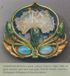 redcowboyboots:  RenéLaliqueCarnation BroochFrance, 1900-02 (One of the pieces I used inthisillustration!)