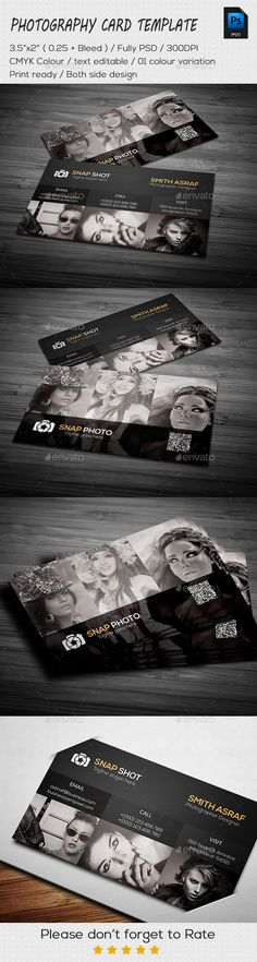 Photography Business Card Template #design #print Download: http://graphicriver.net/item/photography-business-card/11866798?ref=ksioks