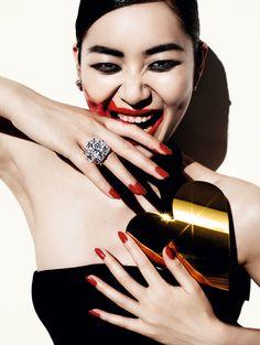 visual optimism; fashion editorials, shows, campaigns & more!: savage grace: liu wen by mario testino for vogue china december 2013