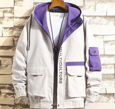 Hooded Bomber Jacket, Rain Jacket, Tomboy Fashion, Mens Fashion, Korean Street Fashion, Kawaii Clothes, Future Fashion, Casual Looks, Windbreaker