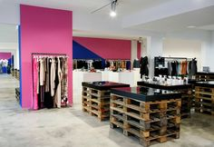 F95 fashion store, Berlin store design