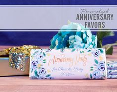 50th WEDDING ANNIVERSARY GUM WRAPPERS