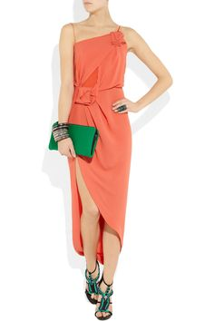 Willow|Asymmetric silk-crepe dress|NET-A-PORTER.COM    NANNERS