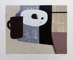 Charles MONNIER, 1925 - 1993 Titre: Composition III Technique: Sérigraphie signée et justifiée par l'artiste 50/100 Dimensions en mm: 425 x 340