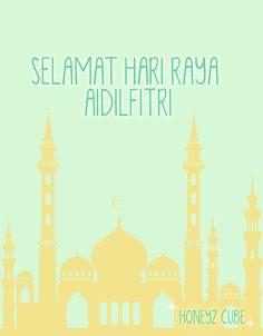Selamat Hari Raya Aidilfitri to all my Muslim Honeyz Belles! :D - I Love Bunny Eid Mubarak Photo, I Muslim, Selamat Hari Raya, Watercolour, Compliments, Aquarium, Bunny, Greeting Cards, Lifestyle