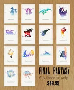 Final Fantasy: Set of Three - A3 Poster on Etsy, $51.63 CAD