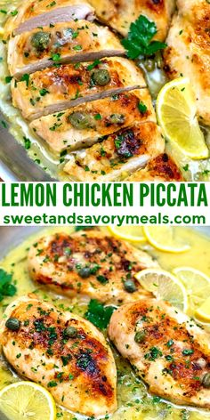 Chicken Piccata is creamy, buttery, and tangy at the same time! All the flavors combined in this savory chicken dish, make it perfect for pasta! #chicken #chickenpiccata #chickenrecipes #sweetandsavorymeals #easyrecipes Best Chicken Dishes, Best Chicken Recipes, Beef Recipes, Cooking Recipes, Healthy Recipes, Walnut Recipes, Mince Recipes, Sausage Recipes, Quick Recipes