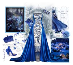 """Royal blue...."" by nannerl27forever ❤ liked on Polyvore featuring Christian Louboutin, Alexander McQueen and Effy Jewelry"