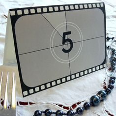Movie theme Wedding Table Numbers Movie theme Party by PaperColada