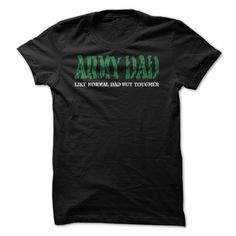 Army Dad Like Normal Dad But Tougher T-Shirts, Hoodies. CHECK PRICE ==► https://www.sunfrog.com/Funny/Army-Dad--Like-Normal-Dad-But-Tougher-T-Shirt-For-Fathers-Day.html?id=41382