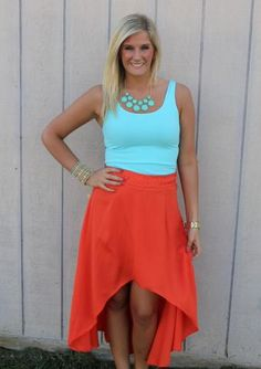 We love the high-low skirts!