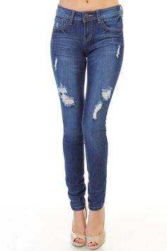 117 CITY WALK SKINNY JEANS The 117 city walk skinny jeans looked so perfect. These light washed destructed jeans are sure to turn heads. Pair with your favorite heels or shoes and loose tops. These jeans feature distressed details on the front.   73%COTTON, 25%POLYESTER, 2%SPANDEX...