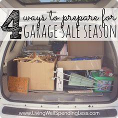 4 ways to prepare for garage sale season (Garage Sale Tips!)
