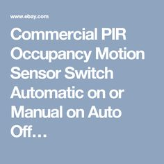 5 pack ivory auto onoff infrared pir occupancy motion sensor light commercial pir occupancy motion sensor switch automatic on or manual on auto off aloadofball Image collections