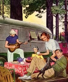 Vintage poster with Airstream Camping Date, Family Camping, Go Camping, Vintage Rv, Vintage Posters, Vintage Campers, Vintage Housewife, Vintage Travel Trailers, Road Trip To Colorado