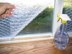 Bubble wrap can insulate windows in a pinch. | 24 Easy Ways To Get Your Home Ready For Winter