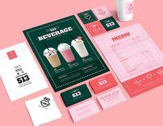 스티커 디자인 / 컨셉 / 브랜딩 / 카페 디자인 / Cafe / 일러스트 / 테이크아웃 / 디자인 / 컨셉디자인 / 컨셉디자인스토어 / 비즈하우스 / 명함 / 포스터 / 칵테일냅킨 / 각대봉투 / 아트 / branding / BI / brand identity / art / design / 스무디 / 생과일주스 / 도장쿠폰 / 타이포그래피 / 소상공인 / 아이콘 Branding And Packaging, Stationary Branding, Stationery Design, Packaging Design, Cafe Branding, Brand Identity Design, Corporate Design, Branding Design, Identity Art