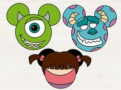 Monster inc bundle Svg Monster inc mickey mouse head svg Mickey Mouse Head, Disney Mouse, Disney Ears, Disney Pixar, Disney Monsters, Monsters Inc, Disney Patches, Disney Clipart, Disney Classroom