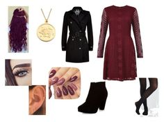 """""""Burgundy Bliss"""" by meganscotton ❤ liked on Polyvore featuring New Look and Burberry"""