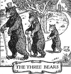 """Heading to """"The Three Bears."""" —— Herbert Cole Illustrations: Fairy-Gold: A Book of Old English Fairy Tales. Goldilocks And The Three Bears, Children's Book Illustration, Book Illustrations, Woodland Creatures, Children's Literature, Old English, Classic Books, Les Oeuvres, Fairy Tales"""