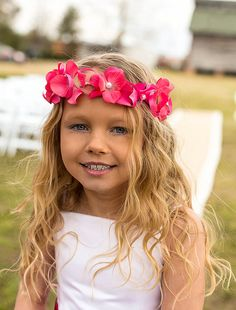 THE AMELIABeautiful Hot Pink Flower Girl by TresMariposasCouture, $34.99