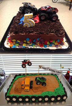 Pinner said: Homemade Monster Truck Cake Ideas : 2014 Cake Designs Ideas Blaze Birthday Cake, Monster Truck Birthday Cake, Bolo Blaze, Blaze Cakes, Monster Trucks, Monster Truck Cakes, Monster Jam Cake, Monster Truck Party, Diy Cake