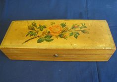Lovely Victorian Glove Box w/ Roses $125
