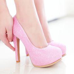 Pink glitter heels ♡