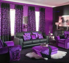 Purple living rooms ideas 2017 Shutterfly Purple Themed Living Room Ideas Thebigadventure Copurple Living Room Decor Purple Living Room Designs Bedsandmattressesstore Purple Themed Living Room Modern Minimalist Home Design Black Bedroom Design, Black Bedroom Decor, Living Room Decor Purple, Cute Living Room, Bedroom Ideas, Living Rooms, Cozy Bedroom, Purple Home Decor, Silver Bedroom