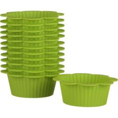 Green Silicon Flower Baking Cups Set of 12, Crate & Barrel $9.95