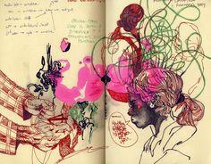 mark making, observational drawing, writing Artist Sketchbook, Sketchbook Pages, Sketchbook Ideas, Sketch Journal, Art Journal Pages, Drawing Projects, Drawing Tips, Observational Drawing, Sketches Of People