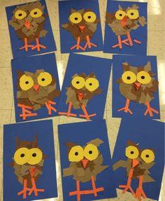 Art with Mr. Giannetto: Kindergarten Owlets Art with Mr. Giannetto: Kindergarten Owlets Art with Mr. Giannetto: Kindergarten Owlets Art with Mr. Halloween Art Projects, Fall Art Projects, Classroom Art Projects, School Art Projects, Art Classroom, Art Projects For Kindergarteners, Thanksgiving Art Projects, Art Education Projects, Kindergarten Art Lessons