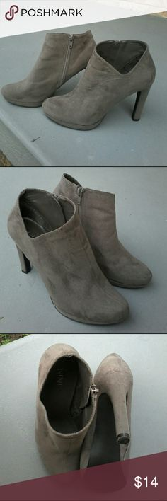 Nine and Company super cute 4 inch ankle boots These Nine and Company super cute ankle boots are in exceptionally clean condition, size 6.5 medium, textile uppers in ultrasuede fabric with 4 inch heels.  Style J J Quinn. nine & co. Shoes Heels