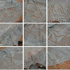 Arctic lace knitting