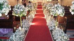 Decoração de igreja de São Pedro, para uma noiva super especial
