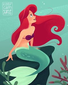 I'm A Mermaid! I'm Ariel Obsessed.this is my Mermaid Life join me on my Under The Sea adventure! Princesa Ariel Disney, Disney Princess Ariel, Mermaid Disney, Disney Little Mermaids, Ariel The Little Mermaid, Mermaid Art, Arte Disney, Disney Fan Art, Disney Magic