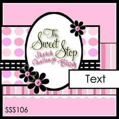 The Sweet Stop card sketch  SSS106