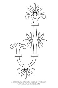 Free Monogram for Hand Embroidery: Letter J