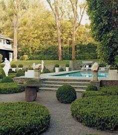 Beautiful courtyard and pool | domino mag