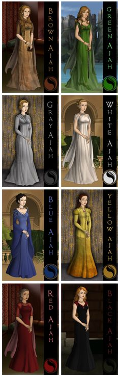 The seven Ajha's of the wheel of time series... I would be green!
